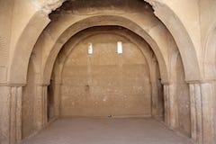 Qasr Kharana (Kharanah of Harrana), het woestijnkasteel in oostelijk Jordanië (100 km van Amman) Stock Afbeelding