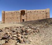 Qasr Kharana (Kharanah of Harrana), het woestijnkasteel in oostelijk Jordanië (100 km van Amman) Royalty-vrije Stock Foto