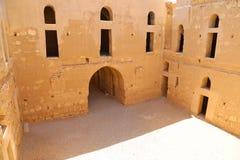 Qasr Kharana (Kharanah of Harrana), het woestijnkasteel in oostelijk Jordanië (100 km van Amman) Stock Afbeeldingen