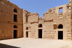 Qasr Kharana (Kharanah o Harrana), el castillo del desierto en Jordania del este (100 kilómetros de Amman) Fotos de archivo libres de regalías