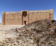 Qasr Kharana (Kharanah o Harrana), el castillo del desierto en Jordania del este (100 kilómetros de Amman) Foto de archivo libre de regalías