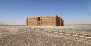 Qasr Kharana (Kharanah ou Harrana), le château de désert en Jordanie orientale (100 kilomètres d'Amman) Photos libres de droits