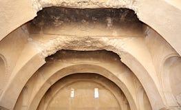Qasr Kharana (Kharanah ou Harrana), o castelo do deserto em Jordânia oriental (100 quilômetros de Amman) Imagens de Stock