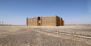 Qasr Kharana (Kharanah ou Harrana), o castelo do deserto em Jordânia oriental (100 quilômetros de Amman) Fotos de Stock Royalty Free