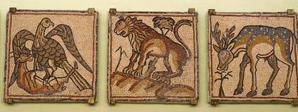 Qasr Libya Byzantin mosaics Stock Photos