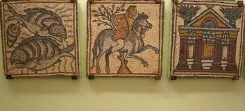 Qasr Libya Byzantin mosaics Stock Photo