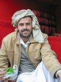 Qat卖主在市场上,萨纳,也门 免版税库存图片