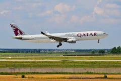 Qatar Airbus A330 Fotos de Stock Royalty Free