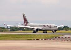 Qatar Airbus A330 Foto de Stock Royalty Free