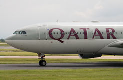 Qatar Airbus A330 Imagens de Stock Royalty Free