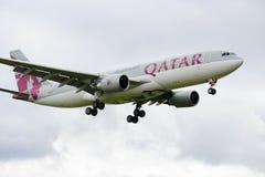 Qatar Airbus A330 Fotografía de archivo libre de regalías