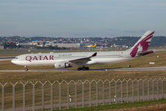 Qatar Airbus A330 Royalty Free Stock Photo