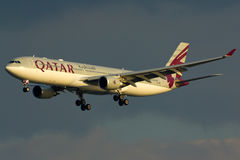 Qatar Airbus A330 Plane Stock Image