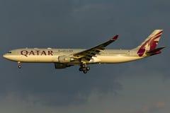 Qatar Airbus A330 Plane Royalty Free Stock Photos