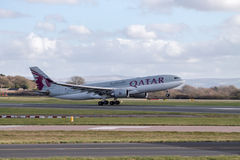 Qatar Airlines Airbus A330 taking off Stock Images