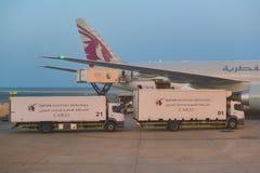 Qatar Airways stock afbeelding