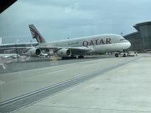 Qatar Airways стоковые фотографии rf