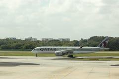 Qatar Airways royalty-vrije stock foto's