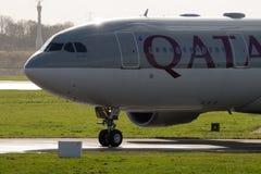 Qatar Airways Airbus A330 imagem de stock royalty free