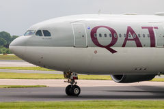 Qatar Airways Airbus A330 Royalty Free Stock Photography