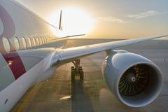 Qatar Airways Boeing 777 Images libres de droits