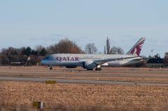 Qatar Airways Boeing 787-8 Dreamliner Photos stock