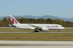 Qatar Airways Boeing 787-8 Dreamliner Fotografia Royalty Free