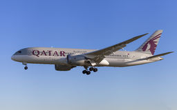 Qatar Airways Boeing 787-8 Dreamliner Stockbild