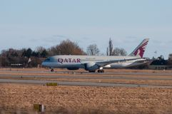 Qatar Airways Boeing 787-8 Dreamliner stock photos
