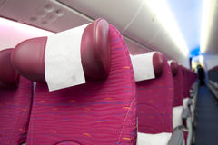 Qatar Airways Economy Class at Singapore Airshow 2014 Royalty Free Stock Photo