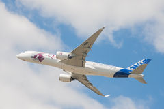 Qatar Airways flygbuss A350 Arkivfoto