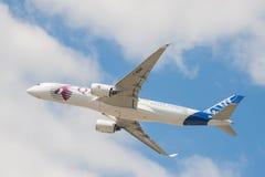 Qatar Airways-Luchtbus A350 Stock Foto