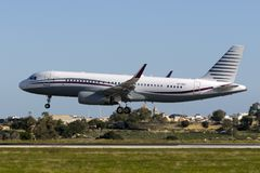 Qatar Amiri Airbus A320 Foto de archivo libre de regalías