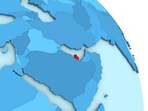 Qatar on blue political globe Stock Photo