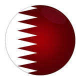 Qatar button with flag Stock Photo