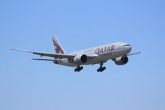 Qatar Cargo Boeing 777F Stock Images