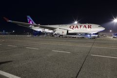 Qatar Cargo Plane Stock Photo