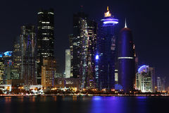 Qatar: Commercial center of Doha Royalty Free Stock Image