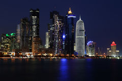Qatar: Commercial center of Doha Royalty Free Stock Photography