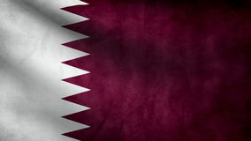 Qatar country flag stock video