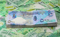 Qatar currency Royalty Free Stock Photography