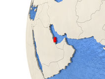Qatar on 3D globe Stock Images
