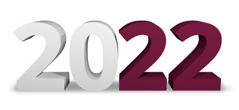 2022 qatar 3d render symbol. Graphic Stock Image