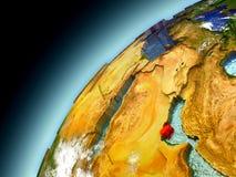 Qatar de la órbita de Earth modelo Imágenes de archivo libres de regalías