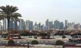 Qatar, doha, city, modern, arabic, architecture. Qatar, doha, city modern arabic architecture skyline arabia qatar, doha, bazaar, market, souk, arab, shop Stock Photos
