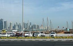 Qatar, doha, city, modern, arabic, architecture. Qatar, doha, city modern arabic architecture skyline arabia qatar, doha, bazaar, market, souk, arab, shop Royalty Free Stock Image