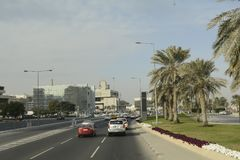 Qatar, doha, city, modern, arabic, architecture. Qatar, doha, city modern arabic architecture skyline arabia qatar, doha, bazaar, market, souk, arab, shop Stock Photo