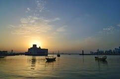 Qatar doha islamisk museumbyggnad royaltyfri bild