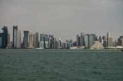 Qatar doha kornisch royaltyfri bild