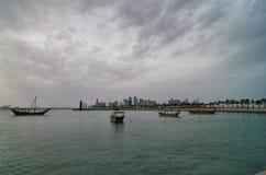 Qatar doha kornisch Arkivfoton